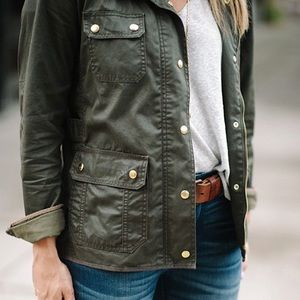 ❌SOLD❌ J Crew Downtown Field Jacket In Mossy Brown